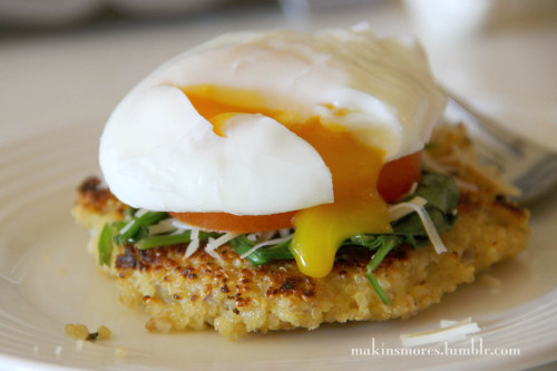 Breakfast {not-quite} Benedict . click here for recipe Follow for more healthy recipes and tips!