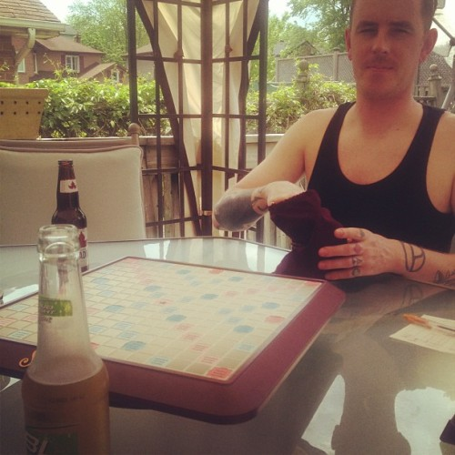 Scrabble and beers with boo #mitch #scrabble