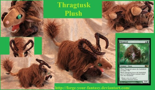 Thragtusk Plush - Commission - Magic the Gathering by *Forge-Your-Fantasy