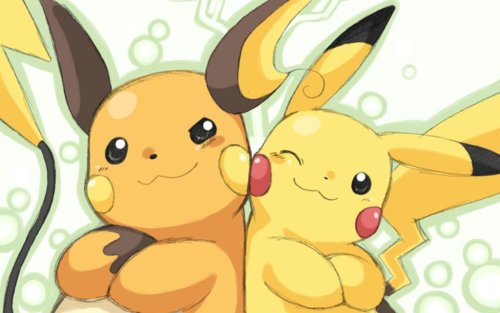 pokemon-fans:  Pikachu and Raichu pic I found on the internet.pokemon-fans.tumblr.compokemonfans.net