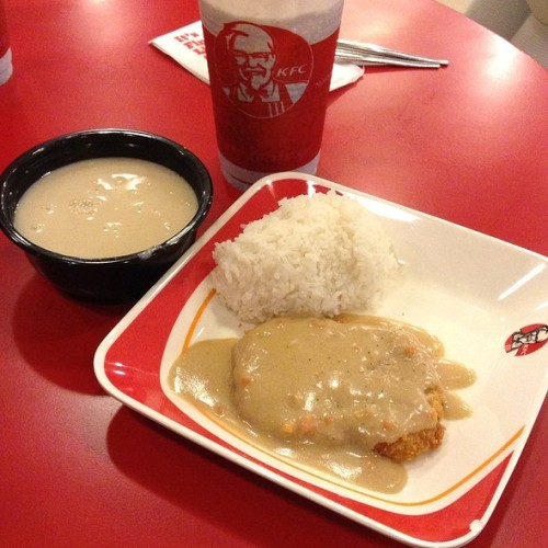 sirgalahad:  Chicken Chop @ KFC KFC's version of the Chicken Cordon Bleu. Via Foodspotting