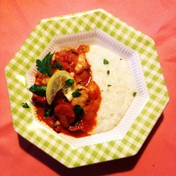 #sunday #dinner #begins #homemade #shrimp and #grits with #adouille #sausage #sauce #ohcomeonthatsgood by meshell523 http://bit.ly/YpMSXu