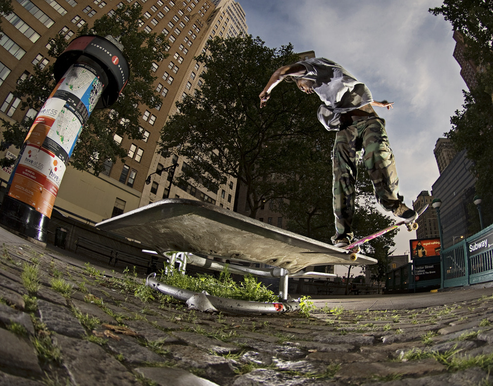 Kevrick Evans- Back 180 Nosegrind to Forward in Manhattan, NY