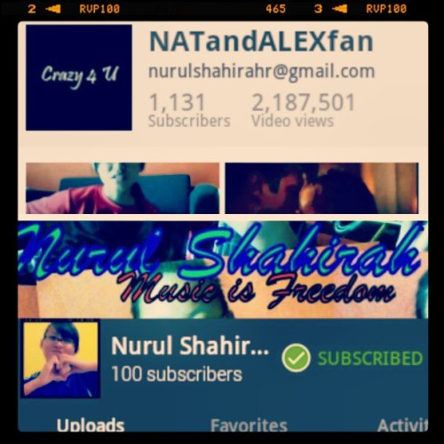 I have that many subscribers. Top from my account in 2009, bottom from 2011.