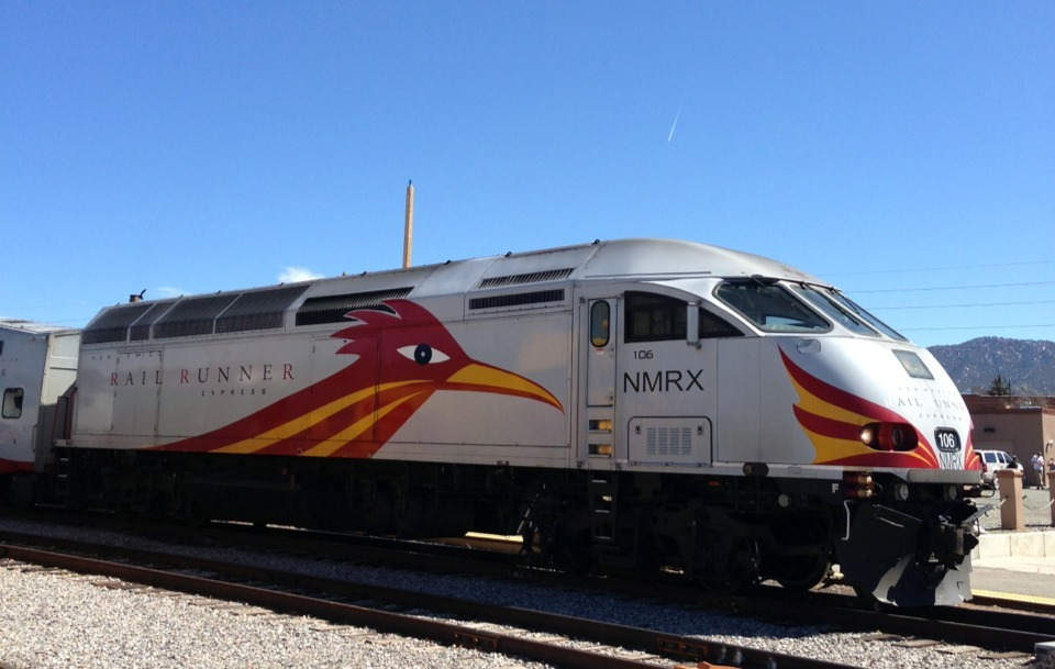 The New Mexico rail runner in Santa Fe New Mexico.