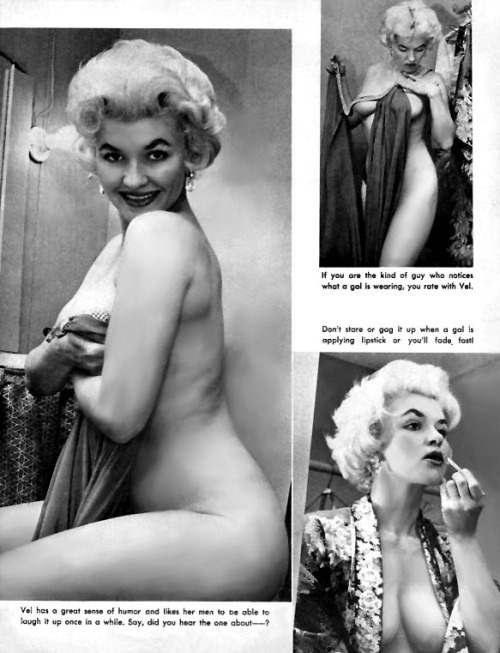 Val Chessey appears in a pictorial found in the pages of the October '57 (Vol.2 - No.2) issue of 'Glamor Parade' magazine..