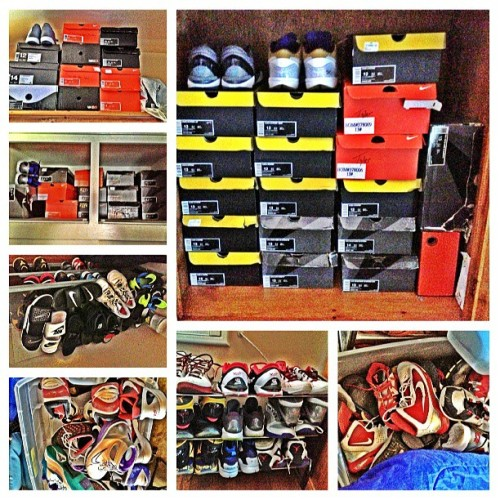 Can't no one mess with my boy @tylerbatiste Kobe! 100+ pair in the picture and there's more! He has everything!!!