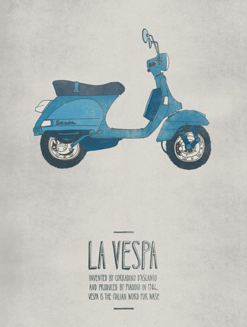 Vespa facts poster