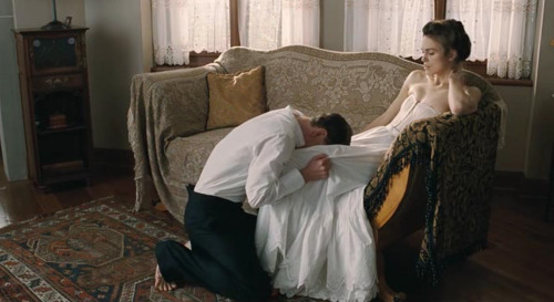 "fashion-and-film:  A Dangerous Method (2011)  ""Sometimes you have to do something unforgivable just to be able to go on living."""