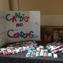 Day one of candies and condoms! And it's free!