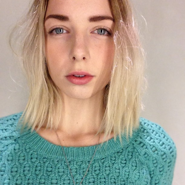 Mint sweater available from Anthropologie (taken with instagram)