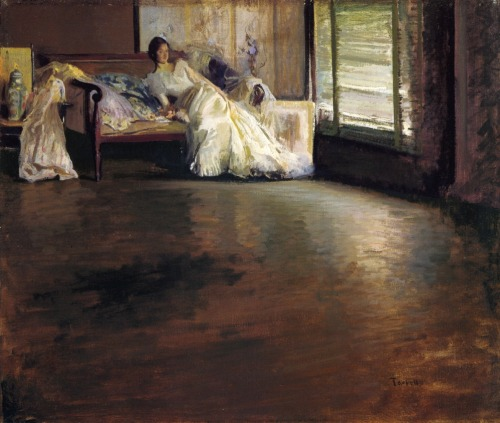 labellefilleart:  Across the Room (or By the Window),  Edmund Tarbell