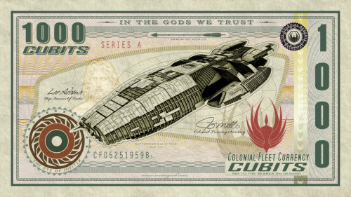 Sixes better have my money! By: Vectorgeek (many more BSG bills after the jump) deviantART