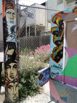 Four Faces and a Ram. C. Gazili. Lilac Alley @24th Street in San Francisco, Ca