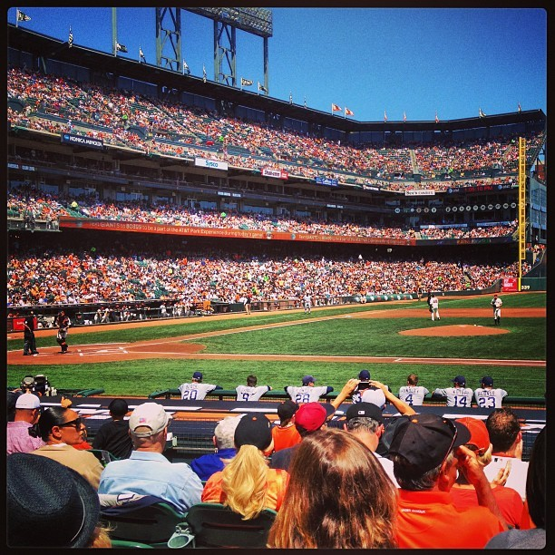 Nice day at the ballpark #giants #padres (at AT&T Park)