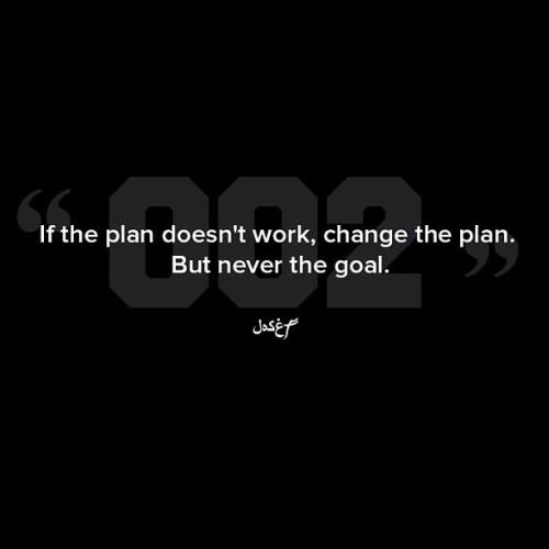 By all means reach goals. #QOTD #WordIsBond