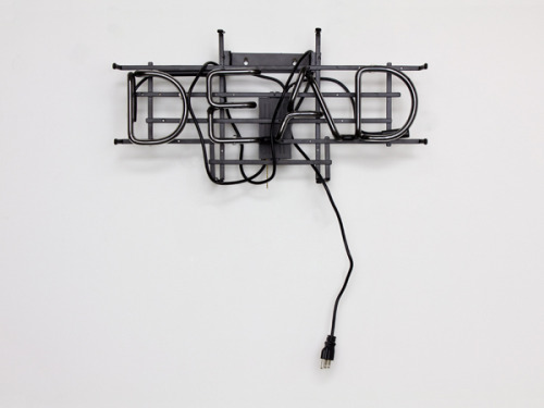Joseph Coniff neon, metal frame, transformer, electrical cord 30 x 24 x 6 inches 2012