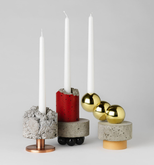 krgkrg:  Candlesticks by David Taylor. Good juxtapositions.