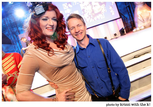Sheila Wolf w/ John Cameron Mitchell at Teddy Awad 2013, Berlin