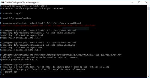 Cài đặt GDAL bằng python và kiểm tra