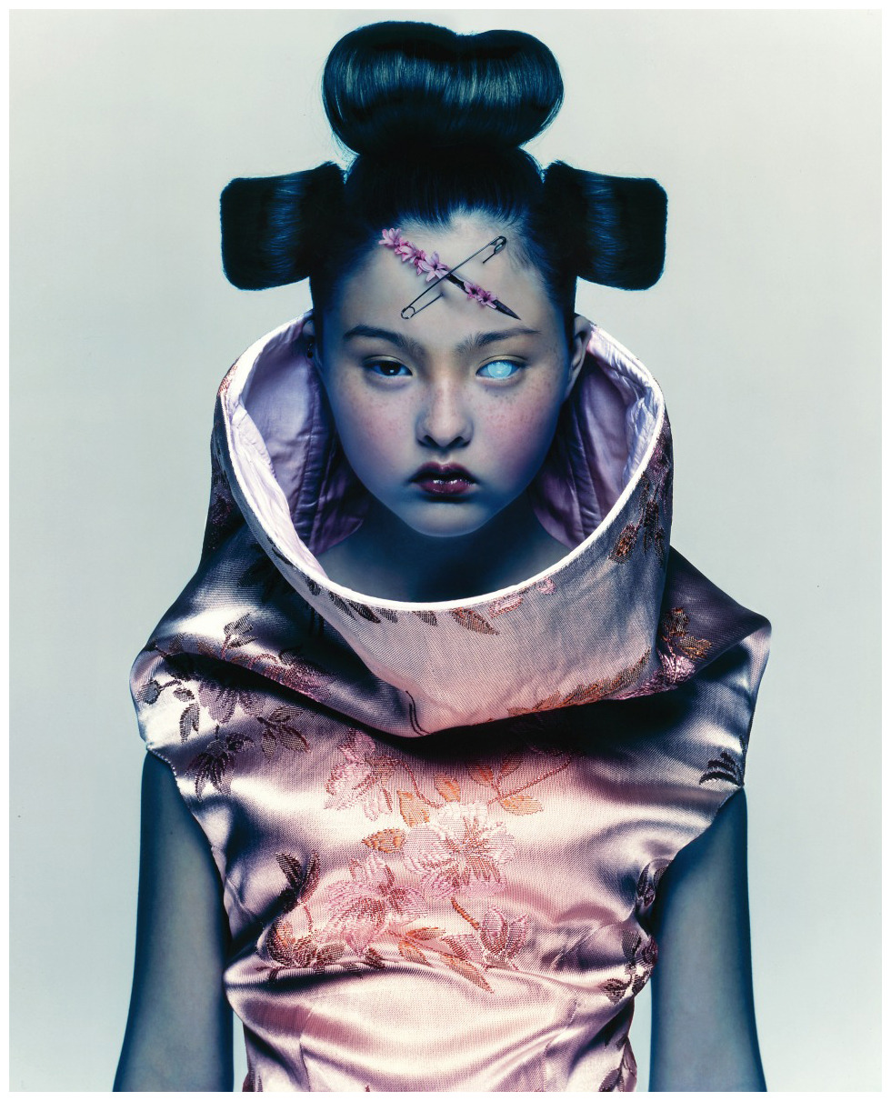 Devon Aoki (in Alexander McQueen S/S 1997) photographed by Nick Knight