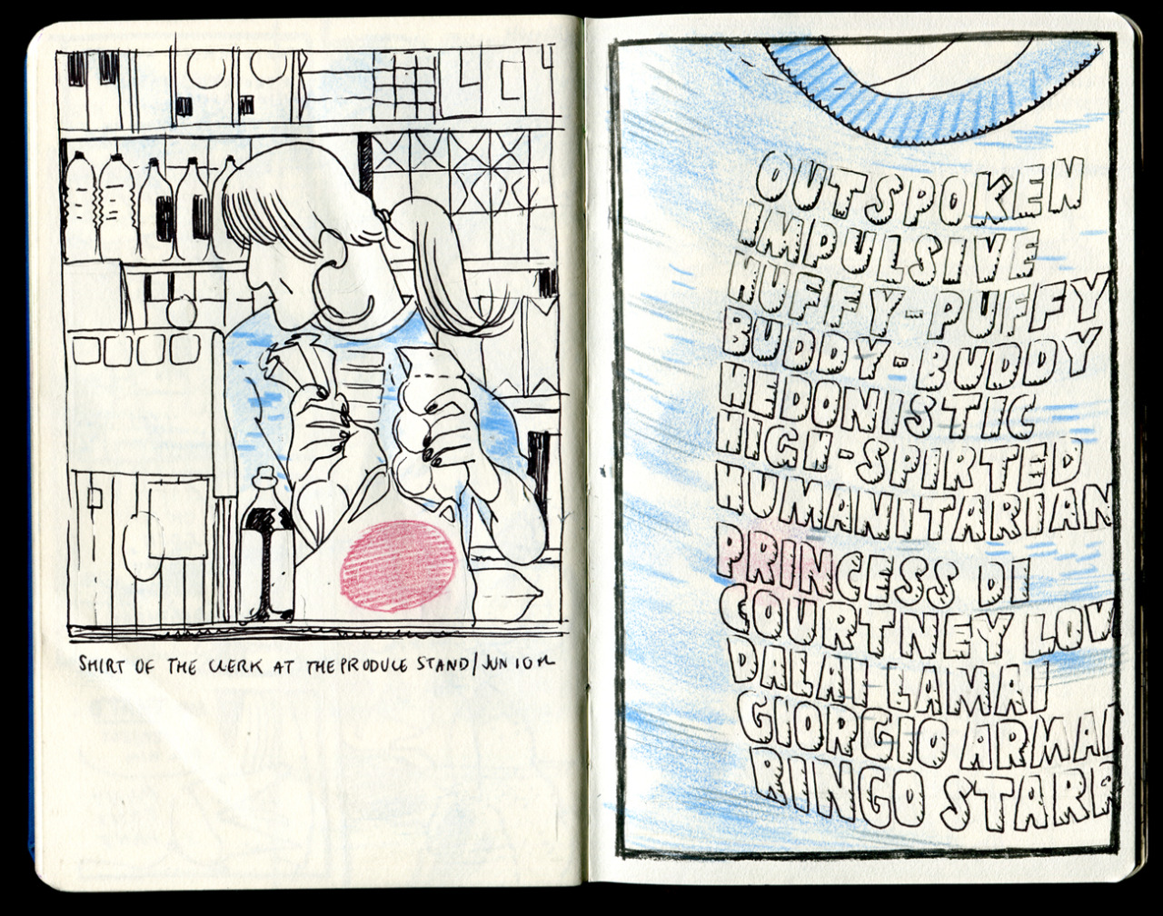 Some sketchbook pages from earlier this summer