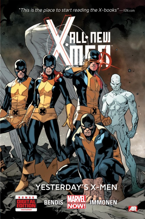 All New X-Men (Hardcover) Yesterday's X-Men! It's a blast from the past as Professor X's original five students - Cyclops, Marvel Girl, Iceman, Angel and Beast - are plucked from the past and brought to the present. But what they find, the state their future selves are in and the state of Xavier's dream, is far from the future they dreamed of. How will these young, idealistic heroes react when faced with the crushing knowledge of what their future holds?  Cover price $24.99 On Sale for $19.99 @MyComicShop
