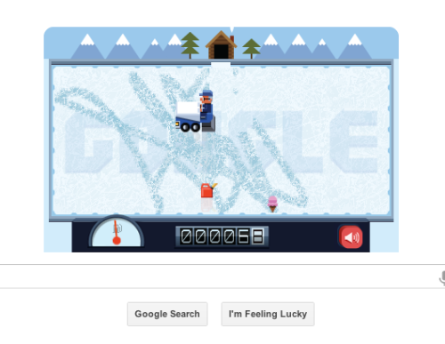 Fun, playable Google Doodle today honoring Frank Zamboni.
