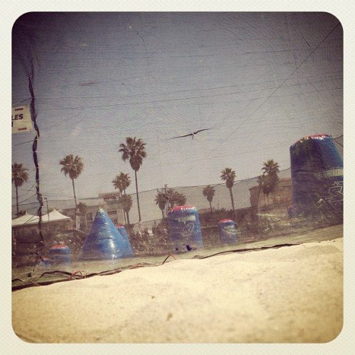 #paintball on the beach. #sanantonioxfactor #xfactor #bkit #theroster (at NPPL HB 2013)
