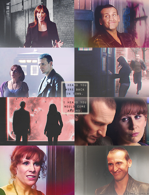 lazoey:  AU MEME | Ninth Doctor and Donna Noble travel together  What if the Ninth Doctor didn't regenerate after the first series? What if he carried on? He had his adventures with Rose yet her fate couldn't be changed. Then he ran into Donna for the first time and had to admit he was taken aback by such an odd creature. But in the end, they were meant to meet again and hence forth they were best mates traveling through space and time.