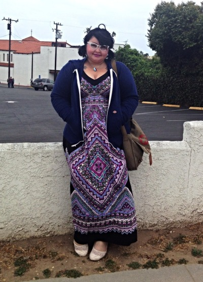 fatandnerdy:  Mein lazy outfit. I used to think maxi dresses made me look shorter and fatter, then I was like…. IDGAF