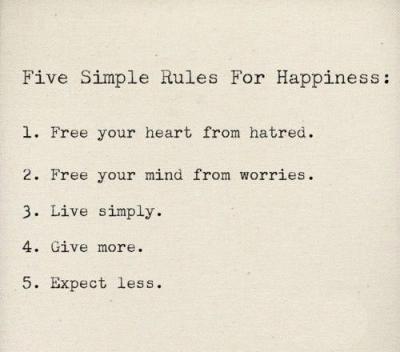 Five simple rules for #happiness