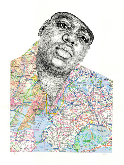 MY BED-STUY FLOW'S MALICIOUS. DELICIOUS. FUCK THREE WISHES.  Biggie with map of Brooklyn.  zoom in.