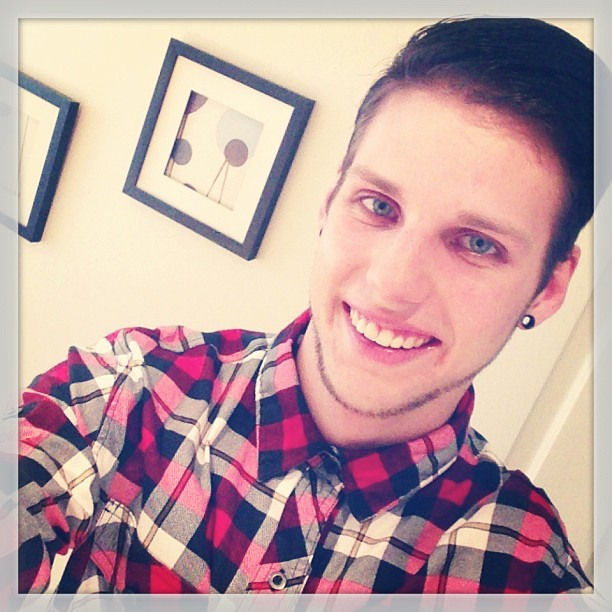 #plaid #buttonup #smile (: