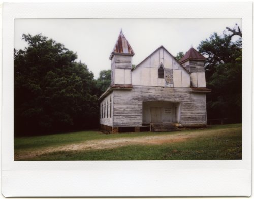 Antioch Baptist Church. Taliaferro County, Georgia. Fujifilm Instant Camera Instax 210.