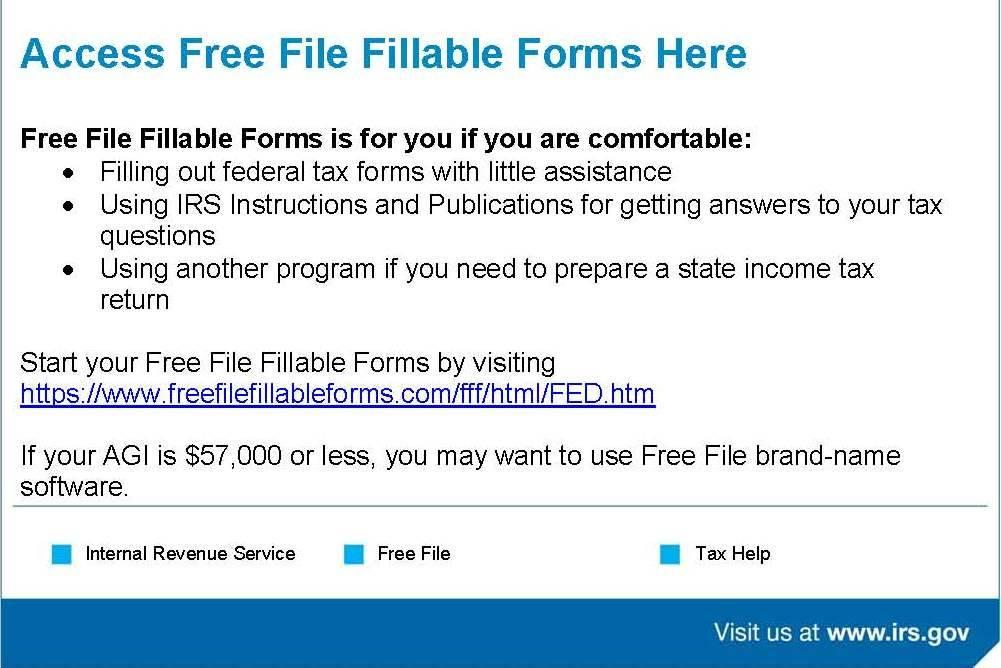 Internal Revenue Service Httpsfreefilefillableformsfff