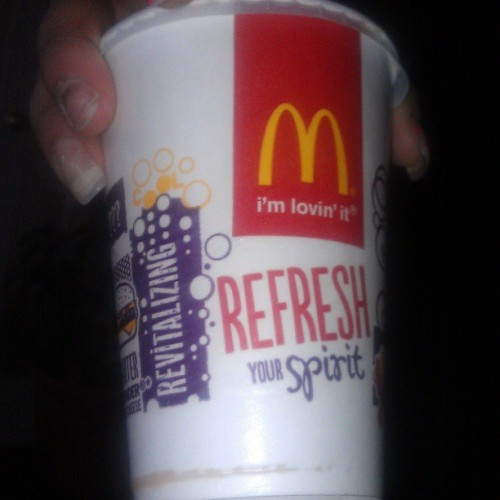 McDonalds juice can refresh your spirit that's pretty serious :-O