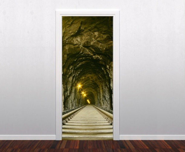 Door skin. When you think that imagination reach the limits…  http://shoply.com/product/63405/mine-door-decoration-in-vinyl/
