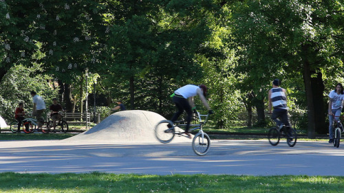 "BMX - Volkspark Friedrichshain on Flickr.Via Flickr: Still photo from the video ""Volkspark Friedrichshain (People's Park) – In A Berlin Minute (Week 159)"" Watch the video: movingpostcard.com/volkspark-friedrichshain-berlin/"