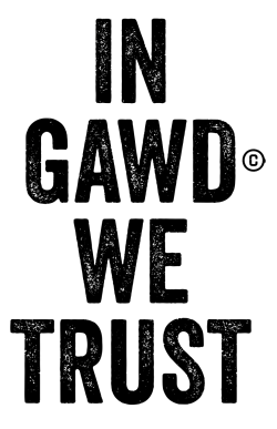 goodsxmomo:  In Gawd© We Trust.