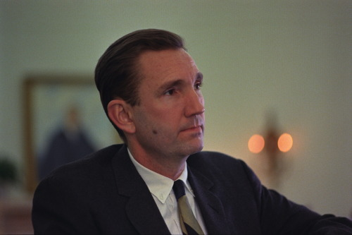 "February 28, 1967. LBJ announces that he will nominate Ramsey Clark as the new Attorney General. Ramsey Clark's father, Tom Clark, is currently a Supreme Court Justice: in a conversation with Ramsey Clark last month, on January 25, the President asks point blank (at about 4:01): ""Do you think you can be Attorney General with your daddy on the Court?""  Tom Clark will resign shortly after the President announces the appointment of his son. LBJ now has a vacant spot to fill. The same January 25 telephone conversation hints strongly at his likely choice: Solicitor General Thurgood Marshall. Ramsey Clark speaks highly of Marshall. That part of the conversation begins around 1:59, when LBJ asks about Marshall's record and Clark explains that the Solicitor General considers it part of his job to argue ""even the losers."" They go on to discuss the kind of Supreme Court Justice that Marshall would be, whether he would be ""in the pocket of the liberals, 100% of the time,"" to which Clark replies that on some kinds of cases, other than civil rights,  Marshall would likely reflect ""an older generation's attitudes.""   LBJ Library photos C4615-17 and C7518-13a, public domain."
