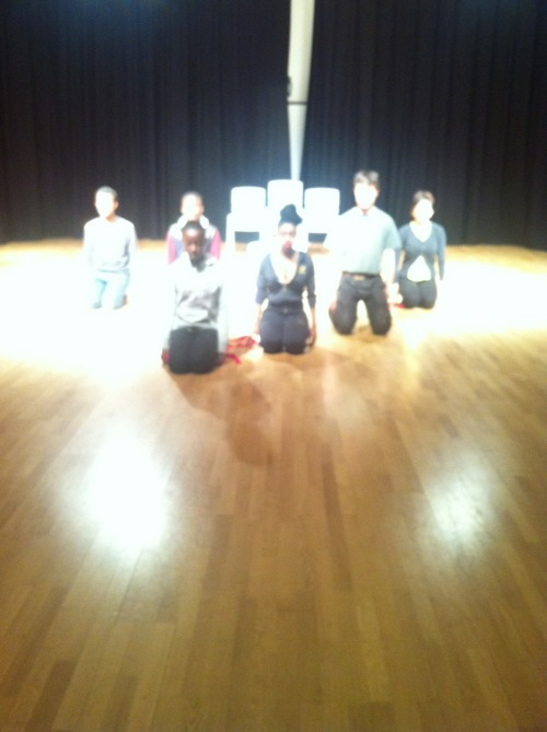 Tallis year 12's in final rehearsals for their AS performances next week. Tuesday and Wednesday evening at 6.15PM in the main hall.