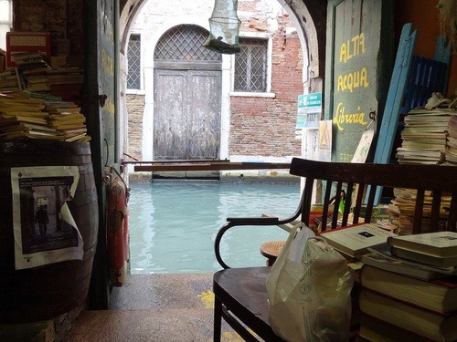 High Water Bookstore, Venice, Italy photo via josee