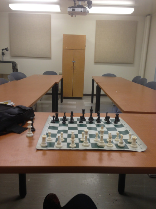 all alone at chess club….