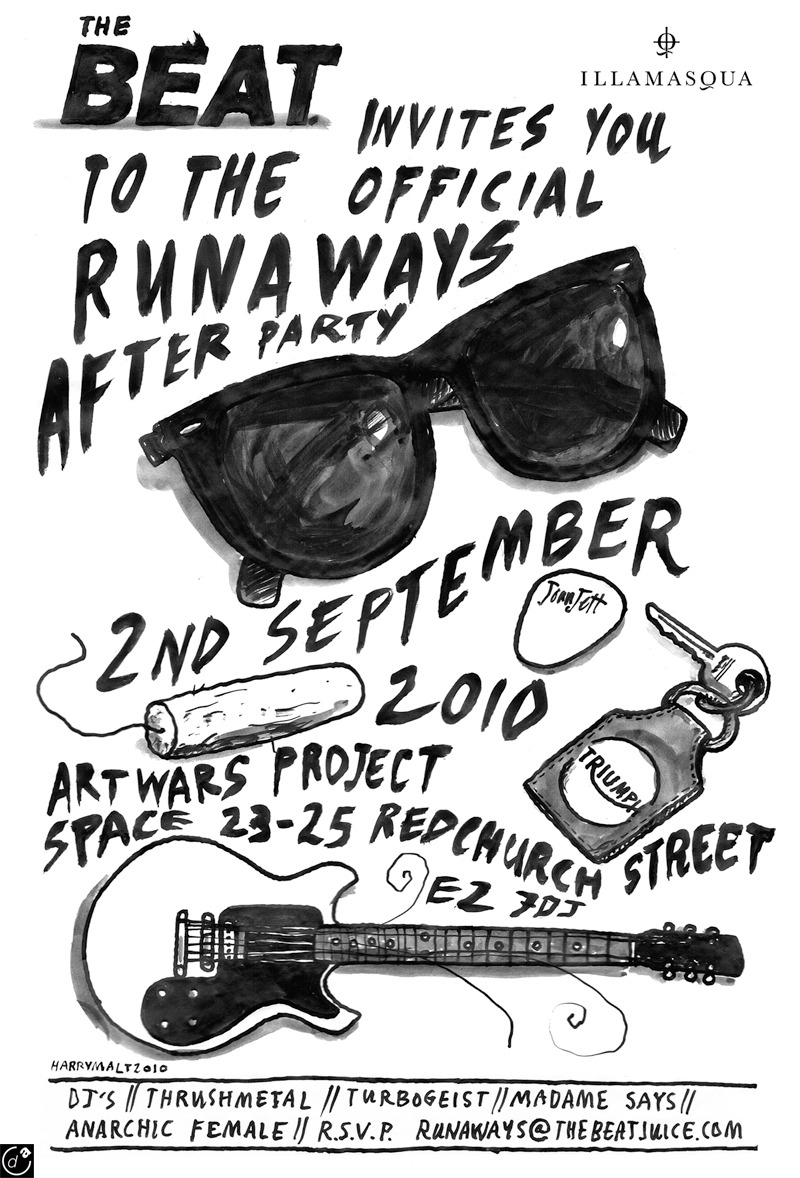 The Runways After Party Invite by Harry Malt