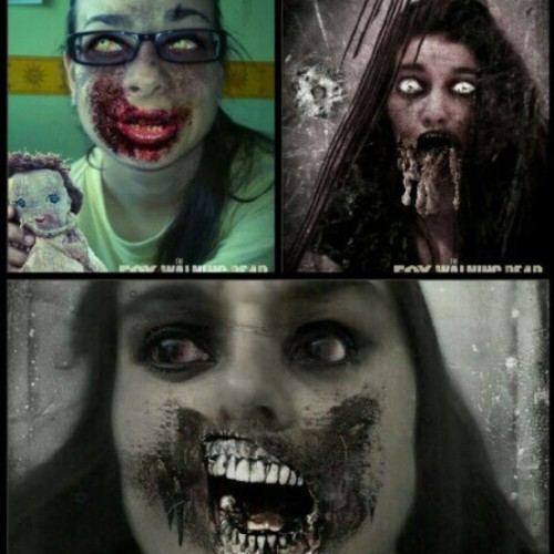 Zombie girls #thewalkingdeath @ester_navarro @ev_avila ♥