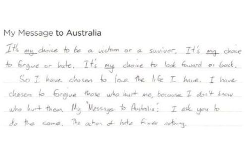 A 'Message to Australia' — the words of those who gave their stories as part of the royal commission into child abuse. Read the full story.