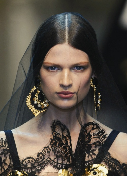 hautekills:  Bette Franke at Dolve and Gabbana f/w 2012