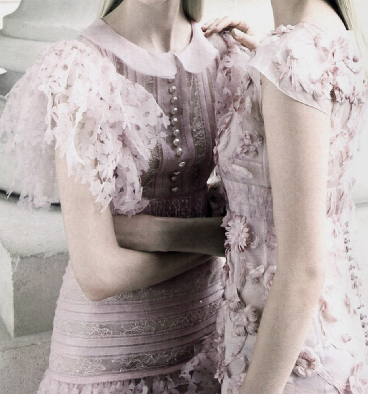 deprincessed:  Detail of Chanel Couture F/W 2012 featured in 'Simply Elegant' by Patrick Demarchelier for Vogue China Collections