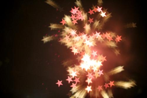 stars starry bokeh fireworks glow